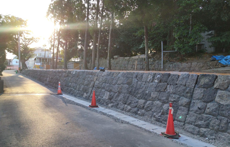 石垣の復元事業完了